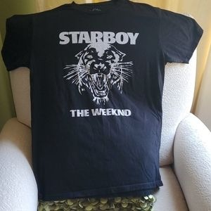 Starboy The Weeknd Black T-Shirt-Size L